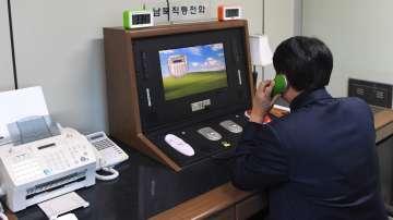 Отново работи горещият телефон между Северна и Южна Корея