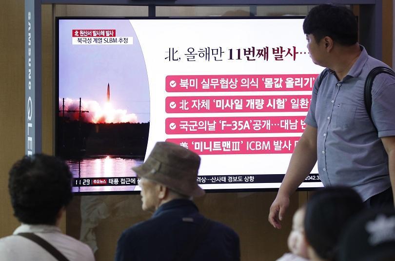 Северна Корея е изстреляла две балистични ракети по посока на
