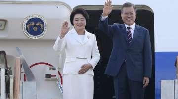 Президентът на Южна Корея пристигна в Пхенян за среща с Ким Чен-ун