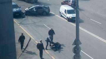 Побой на пътя в центъра на София