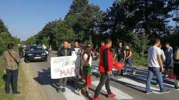 Жители на Кубрат излязоха на протест заради лоши пътища