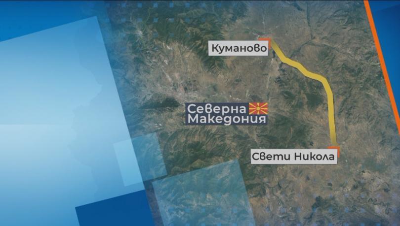 Български камион с нелегални мигранти се преобърна край Куманово, 25 са ранени