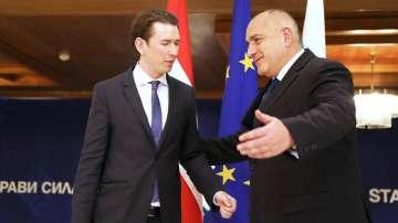 Австрийският канцлер Себастиан Курц се срещна с премиера Бойко Борисов