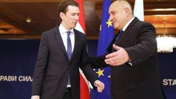 Визита на австрийския канцлер в България