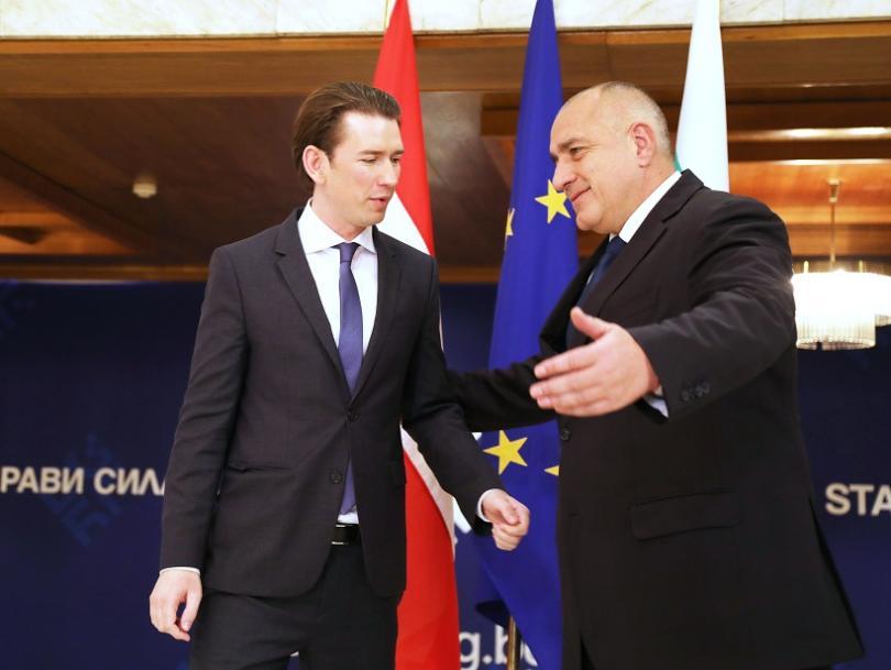 Австрия подкрепя България за присъединяване към Шенгенското пространство. Това заяви