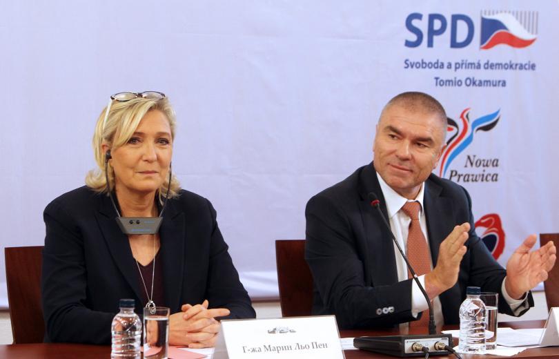 Европейските националисти и тяхната лидерка Марин Льо Пен припознават за