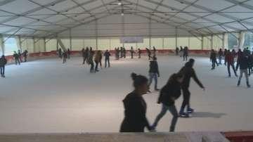 Най-голямата ледена пързалка на Балканите отново радва столичани