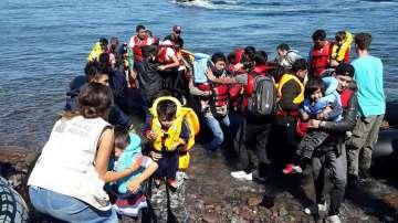 Приток от мигранти към гръцкия остров Лесбос