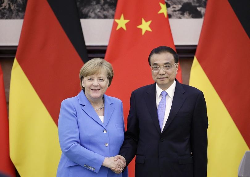 меркел пекин германия китай защитават свободната търговия