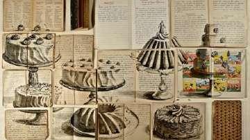 Картини върху страници на стари книги
