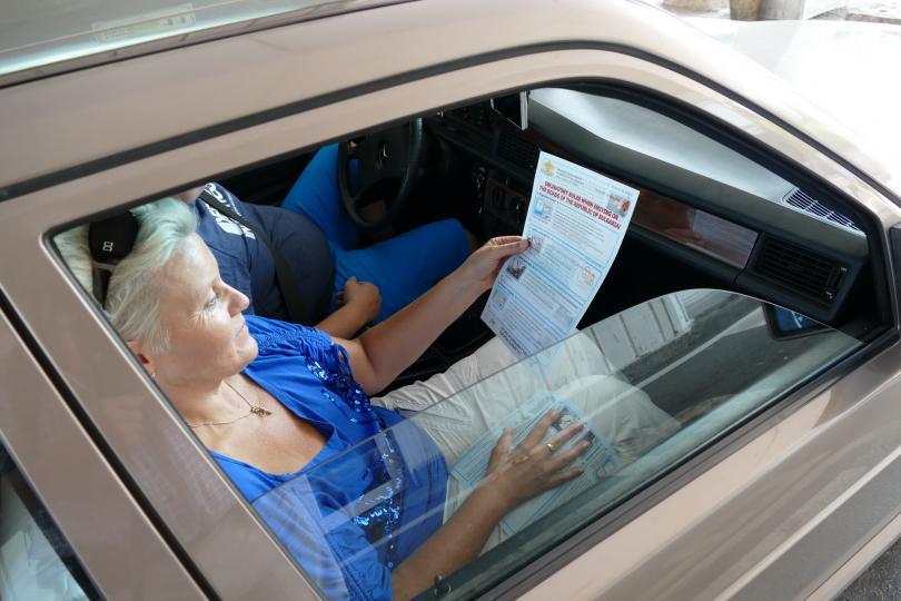 мвр посреща шофьорите границата информационни брошури