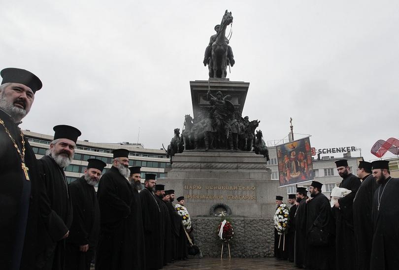 снимка 1 Литийно шествие по повод 140 от Освобождението на София (СНИМКИ)