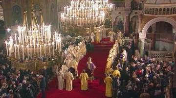 Съборна Света литургия на патриарх Неофит и руския патриарх Кирил
