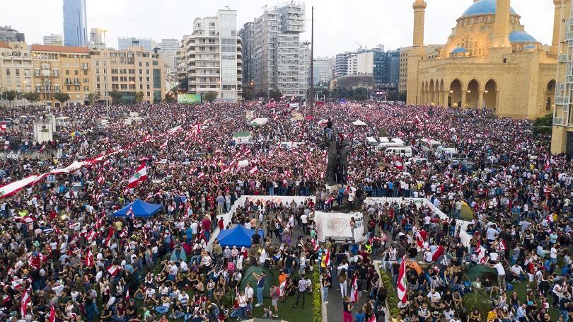 Снимка: Масови антиправителствени протести в Ливан