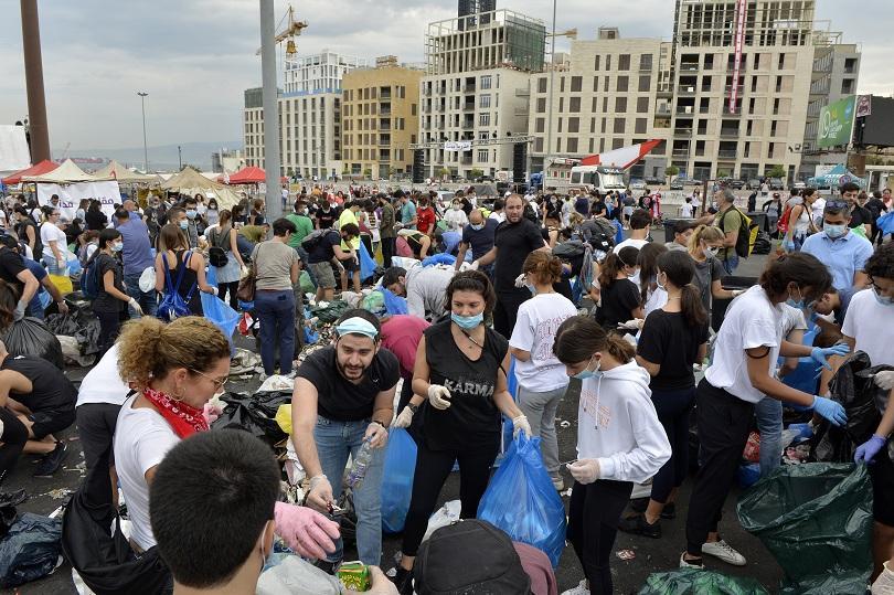 И към един любопитен протест в Ливан, където група демонстранти