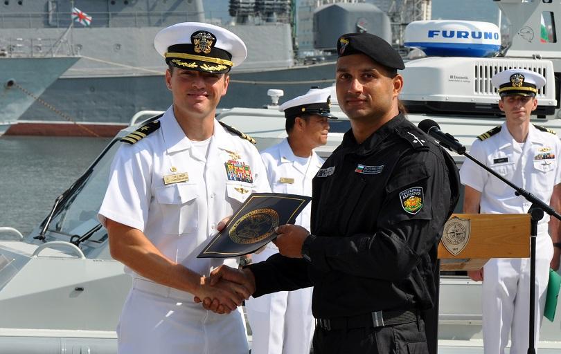 Четири нови бързоходни моторни лодки получи днес военноморският ни флот.