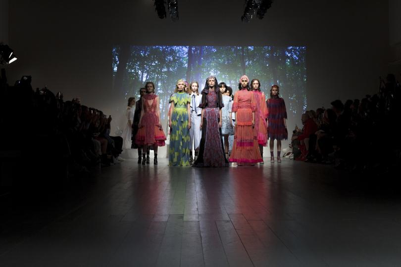 Колекцията на дизайнера Ричард Малоун откри лондонската седмица на модата.