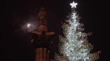 Запалиха светлините на елхата в Лондон