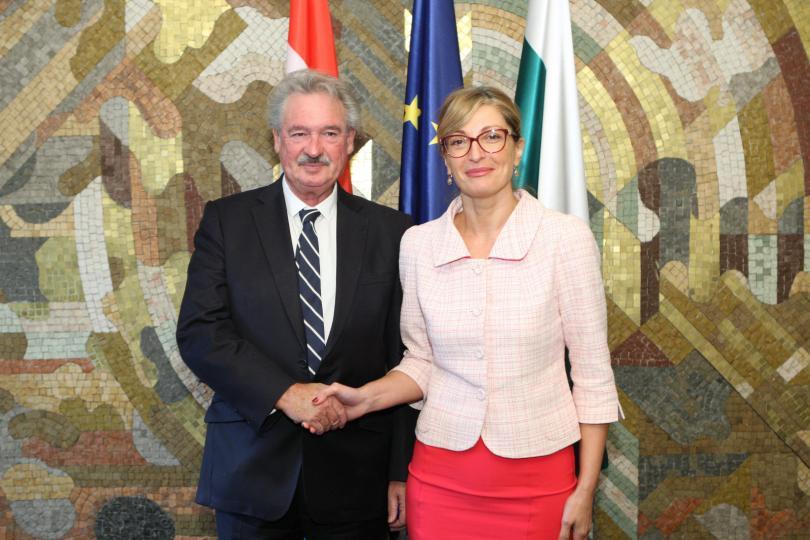 Външният министър на Люксембург е на посещение у нас