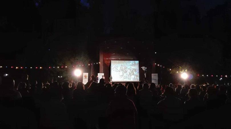 """Снимка от Борисовата градина, където БНТ закри шестия сезон на """"Пътуващото лятно кино с БНТ1"""""""
