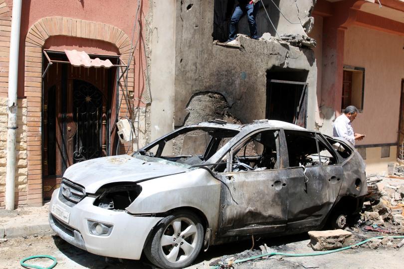 Снимка: Нови атаки край Триполи