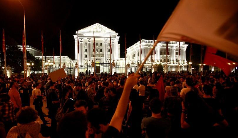 македонски града протестираха президента иванов