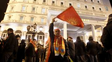 Протест в Скопие срещу предлаганото споразумение с Гърция