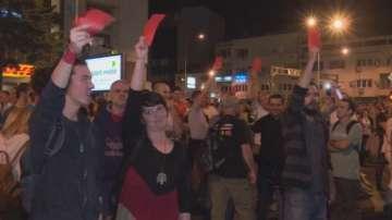 Осма поредна нощ на протести в Македония