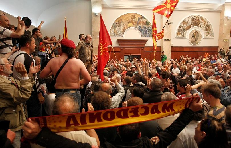 македония изгони сръбски агент заради погрома парламента април