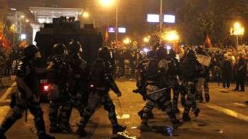 Ескалация на напрежение при протеста в Скопие