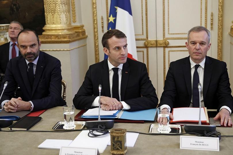 Френският президент Еманюел Макрон се срещна тази сутрин с представители