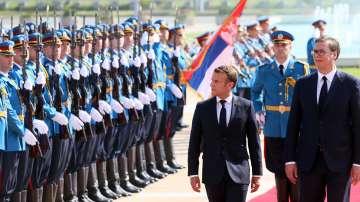 Започна посещението на френския президент Макрон в Сърбия