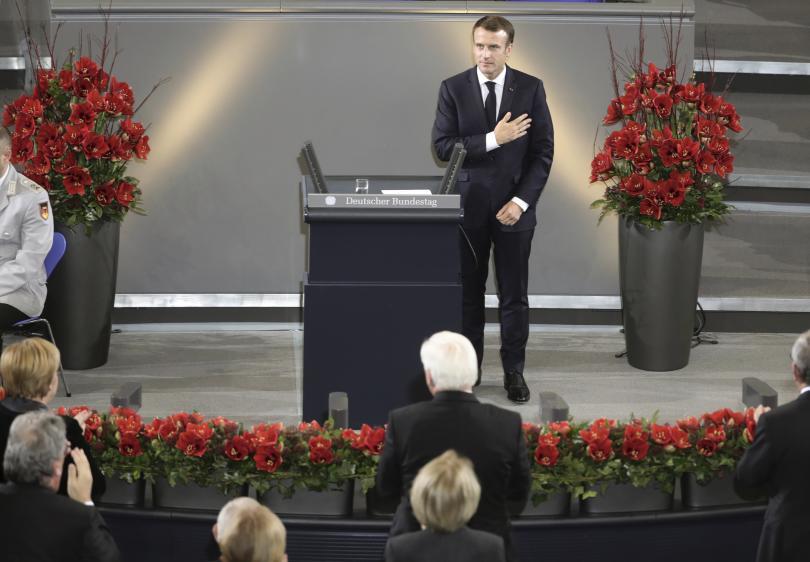 снимка 1 Историческа реч на френския президент Еманюел Макрон в Берлин