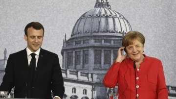 Еманюел Макрон и Ангела Меркел се срещнаха в Германия