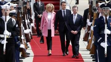 Френският президент Еманюел Макрон пристигна на държавно посещение в САЩ