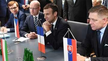 Макрон се срещна с лидерите на  Вишеградската четворка