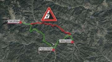 Участъкът от пътя Смолян - Мадан в района на село Тикале остава затворен