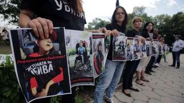 Майки на деца с увреждания излязоха на пореден протест в София