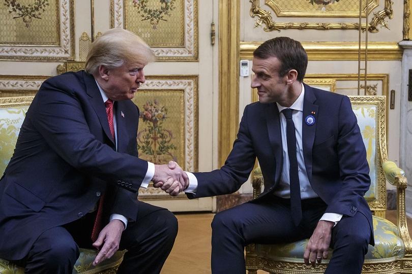 макрон съгласен тръмп европа плаща повече отбрана