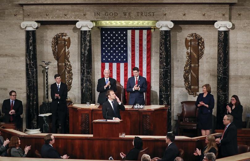 Визионерска реч на френския президент Еманюел Макрон пред двете камари