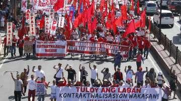 Първомайска демонстрация в Манила