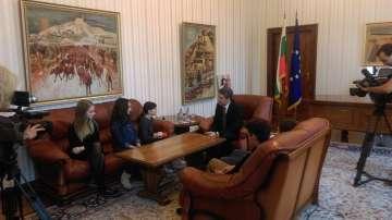 Малките репортери на БНТ разговарят с президента Росен Плевнелиев