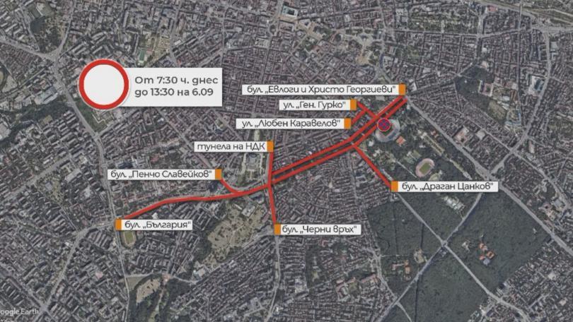 Затварят улици в София заради щафетен маратон