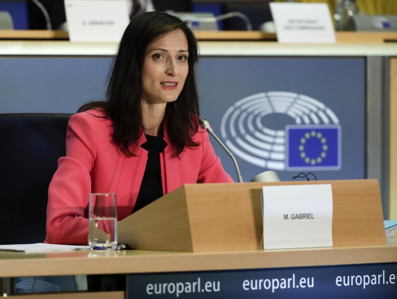 Българският еврокомисар и кандидат за втори мандат Мария Габриел отговори