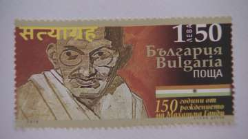 Валидираха пощенска марка за 150 години от рождението на Махатма Ганди