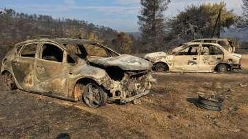 Пожарникарите успяха да ограничат огъня на остров Евбея