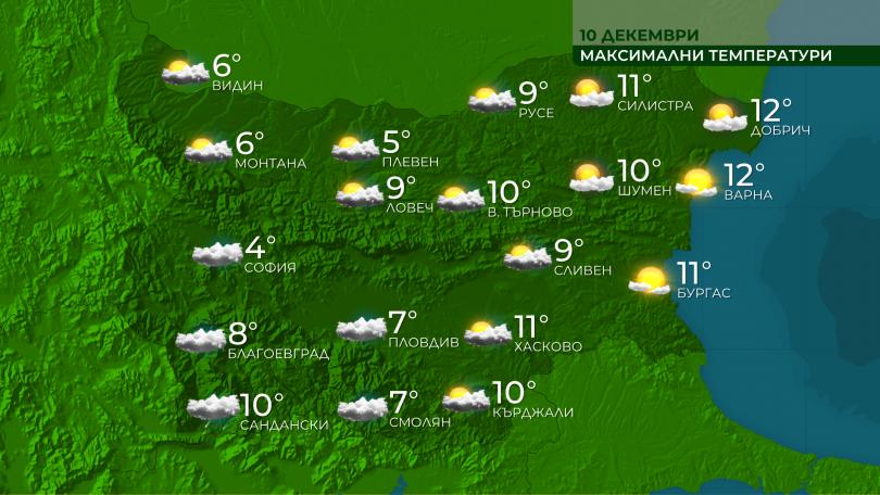 Днес облачността от запад ще се увеличава и късно вечерта