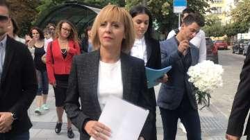 Мая Манолова подаде документи за регистрация за кметските избори в София