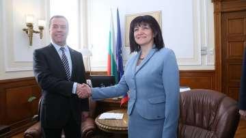 Дмитрий Медведев се срещна с председателя на НС Цвета Караянчева