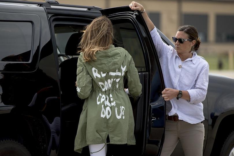 Първата дама на САЩ Мелания Тръмп предизвика многобройни коментари заради